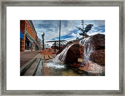 Old Town Fountain Framed Print by JulieannaD Photography