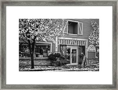 Framed Print featuring the photograph Old Town Gallery 2 by Sherri Meyer