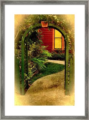 Old Town Gateway Framed Print