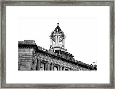 Old Town Hall In Stamford Framed Print