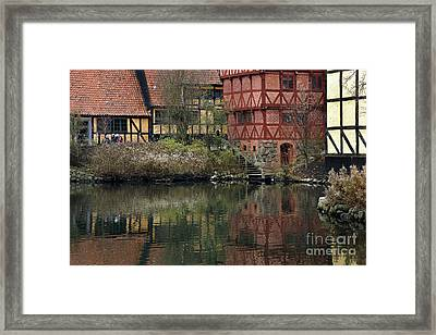Old Town In Aarhus Framed Print by Inge Riis McDonald