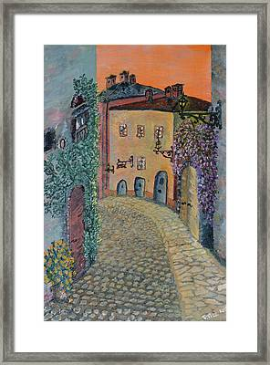 Framed Print featuring the painting Old Town In Piedmont by Felicia Tica