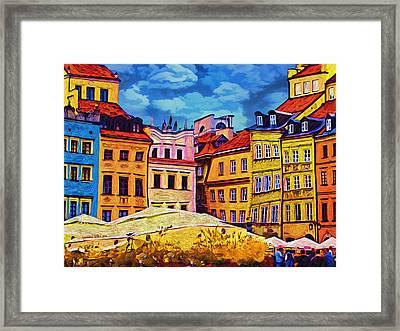 Old Town In Warsaw #1 Framed Print by Aleksander Rotner