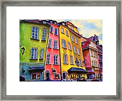 Old Town In Warsaw #4 Framed Print by Aleksander Rotner