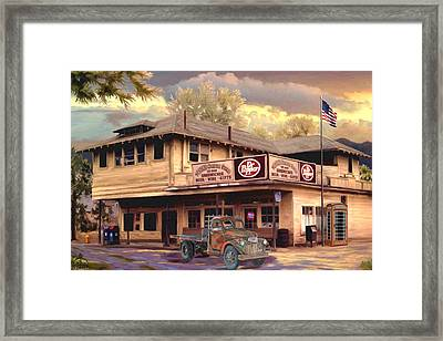 Old Town Irvine Country Store Framed Print by Ron Chambers