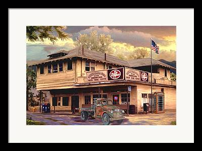 Historic Country Store Paintings Framed Prints