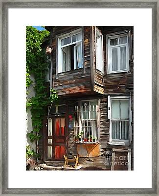 Old Town Istanbul Framed Print by Lutz Baar