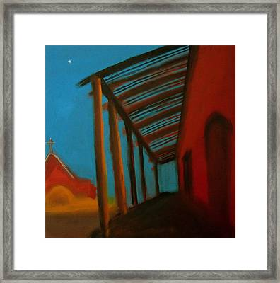 Framed Print featuring the painting Old Town by Keith Thue