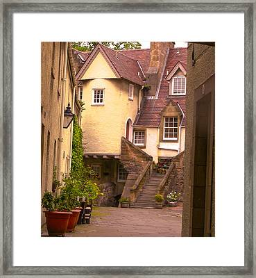 Old Town Lodging Framed Print