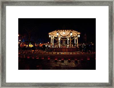 Old Town Luminarias And Bandstand Framed Print by Don Durante Jr