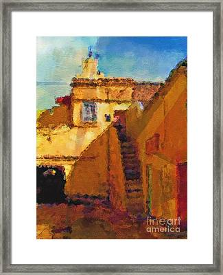 Old Town Framed Print by Lutz Baar