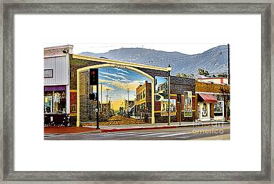 Old Town Mural Framed Print by Jason Abando