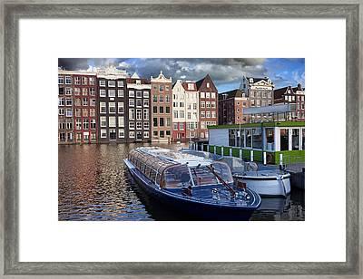 Old Town Of Amsterdam In Netherlands Framed Print by Artur Bogacki
