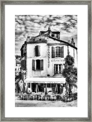 Old Town Of Arles 2 Bw Framed Print