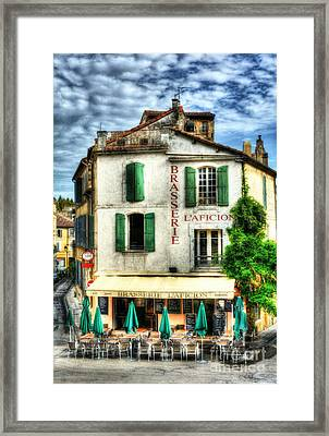 Old Town Of Arles 2 Framed Print by Mel Steinhauer