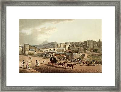 Old Town Of Edinburgh Framed Print by British Library