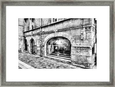 Old Town Of Lyon 4 Bw Framed Print by Mel Steinhauer