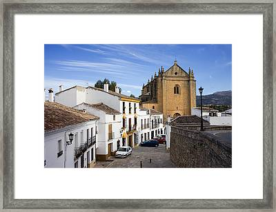 Old Town Of Ronda Framed Print