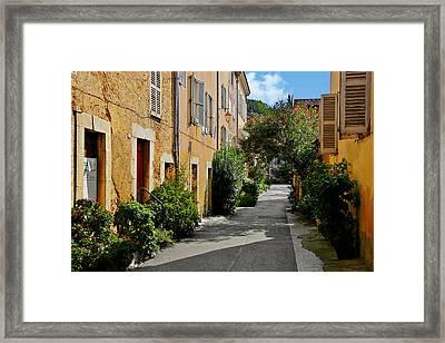 Old Town Of Valbonne France  Framed Print