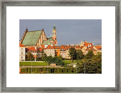 Old Town Of Warsaw Skyline Framed Print by Artur Bogacki