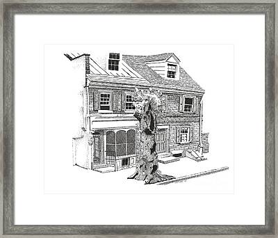 Old Town Philadelphia Framed Print by Paul Kmiotek