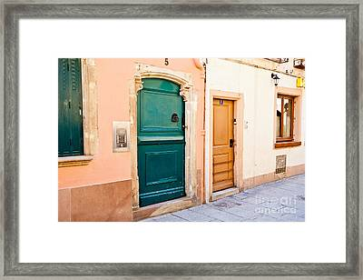 Old Town Plate 1 Framed Print