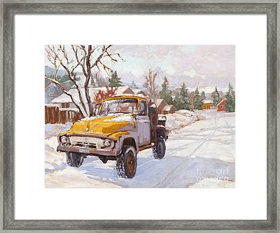 Old Town Ride Framed Print by Chula Beauregard