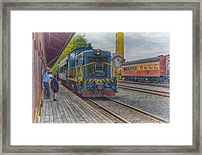 Framed Print featuring the photograph Old Town Sacramento Railroad by Jim Thompson