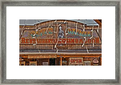 Old Town Saloon Framed Print