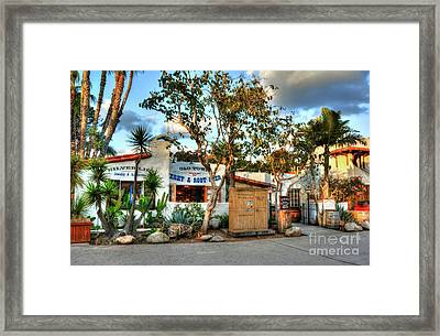 Old Town San Diego Colors Framed Print by Mel Steinhauer