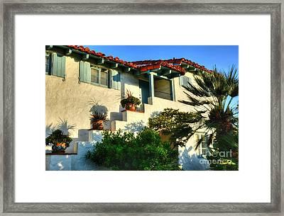 Old Town San Diego Shadows Framed Print