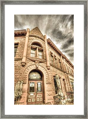 Old Town Sandstone Framed Print by JulieannaD Photography