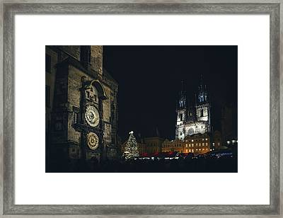 Old Town Square In Prague Framed Print by Andrew Proudlove