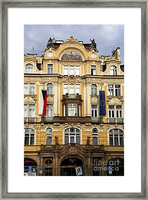 Old Town Square In Prague Framed Print by John Rizzuto