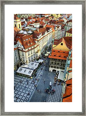 Old Town Square In Prague Framed Print by Pablo Lopez
