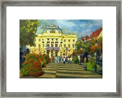 Old Town Square Framed Print