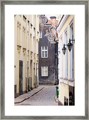 Old Town Street Framed Print by Gene Mark