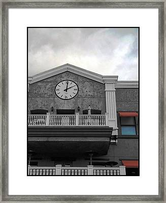 Old Town Temecula - The Clock Framed Print