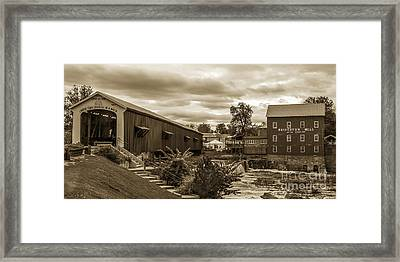 Old Town Usa Framed Print