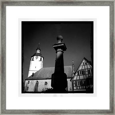 Old Town Waldenbuch In Germany Framed Print