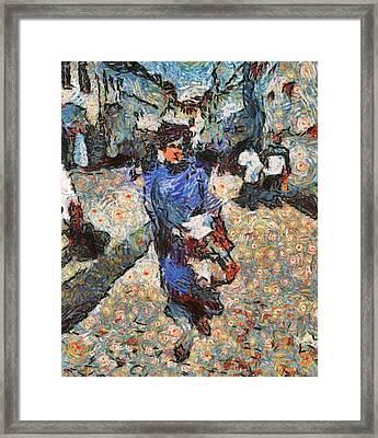 Old Town Walk Framed Print by Yury Malkov
