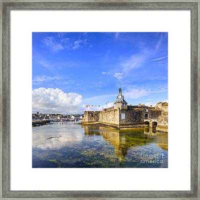 Old Town Walls Concarneau Brittany Framed Print by Colin and Linda McKie