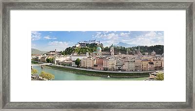 Old Town With Hohensalzburg Castle, Dom Framed Print