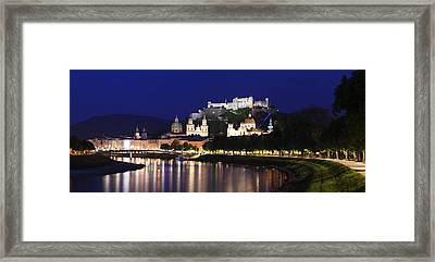 Old Town With Hohensalzburg Castle Framed Print by Panoramic Images