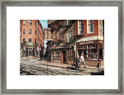 Old Towne Boston II Framed Print