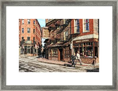 Old Towne Boston Framed Print