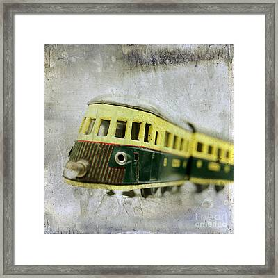 Old Toy-train Framed Print by Bernard Jaubert