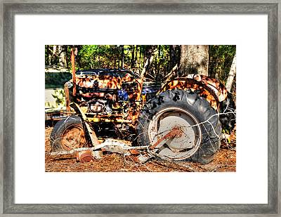 Old Tractor 01 Framed Print by Andy Savelle