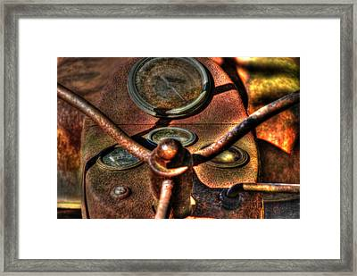 Old Tractor 02 Framed Print by Andy Savelle