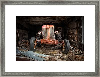 Old Tractor Face Framed Print